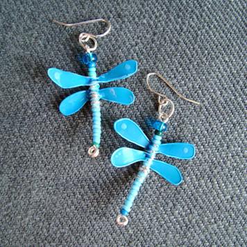 Kolczyki Ważki Niebieskie