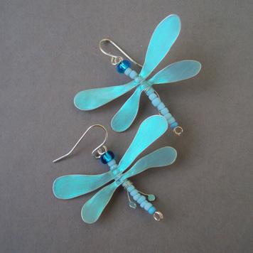 Kolczyki Ważki Błękitne