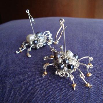 Kolczyki Pająki Perłowe