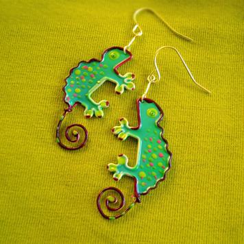 Kolczyki Kameleony
