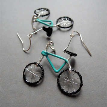 Kolczyki Rowerki Turkusowe