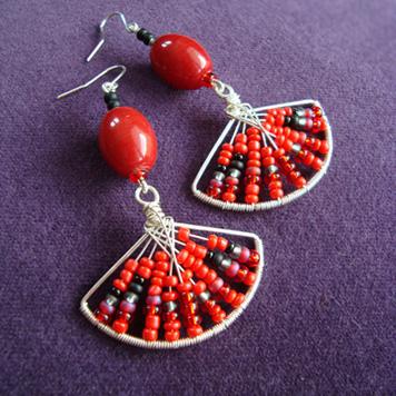Kolczyki Flamenco Czerwone