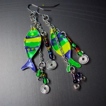Kolczyki Ryby Kolorowe