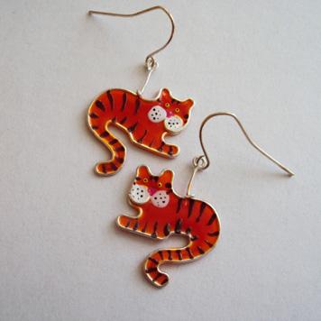 Kolczyki Tygryski Mini
