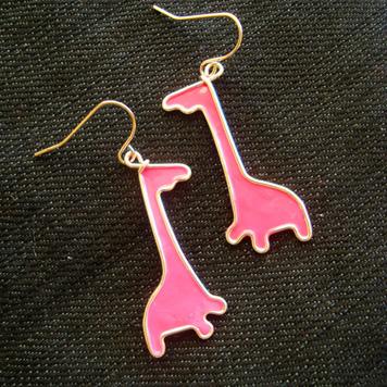 Kolczyki Różowe Żyrafy
