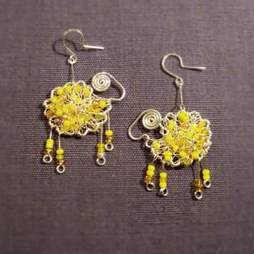 Kolczyki Żółte Baranki