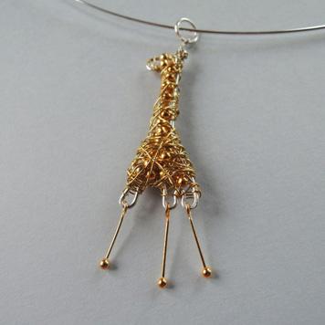 Zawieszka Żyrafa Złota