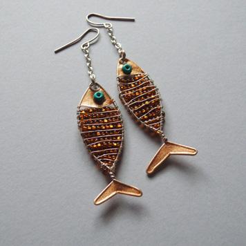 Kolczyki Ryby Złote