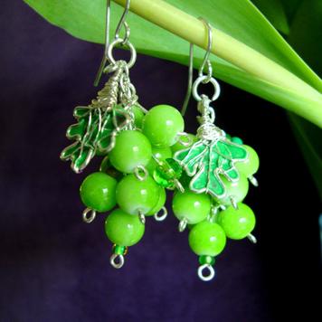 Kolczyki Winogrona