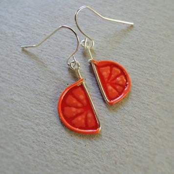 Kolczyki Czerwone Grapefruity