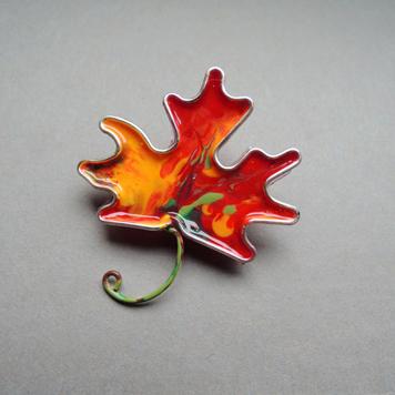 Broszka Liść Jesienny