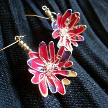 Kolczyki Kwiaty