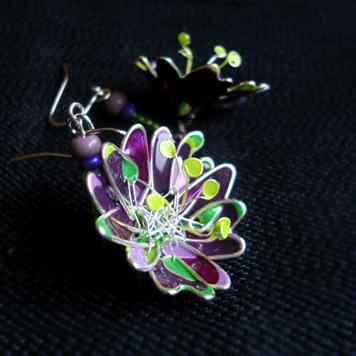 Kolczyki Kwiaty z Pręcikami