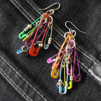 Kolczyki Kolorowe Agrafki