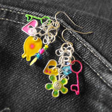 Kolczyki Kolorowe Zabaweczki