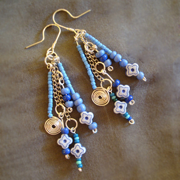 Kolczyki Niebieska Kompozycja