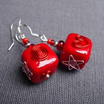 Kolczyki Prezenty Czerwone