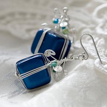 Kolczyki Prezenty Niebieskie