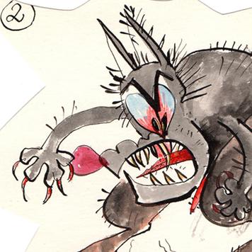 Historia rysunkowa - Bajka o Wilku i Małej Myszce