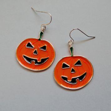 Kolczyki Dynie Halloween