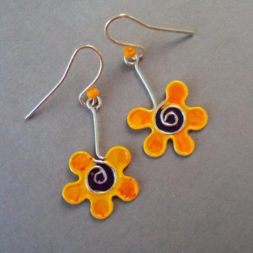 Kolczyki Żółte Kwiatki