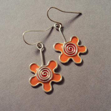 Kolczyki Kwiatki Morelowe