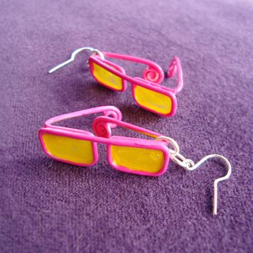 Kolczyki Różowe Okulary