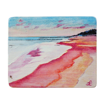 35 Drewniany Obrazek Pocztówka - Plaża