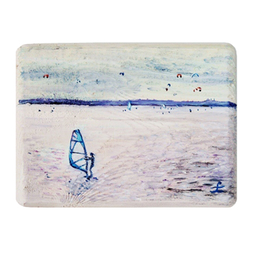 47 Drewniany Obrazek Pocztówka - Windsurfing