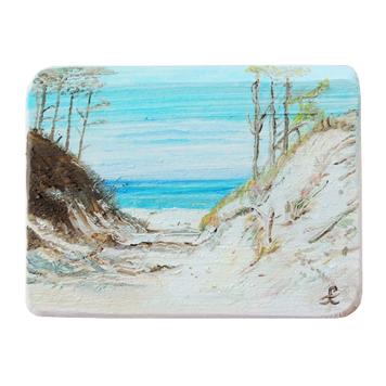 52 Drewniany Obrazek Pocztówka - Wejście na Plażę