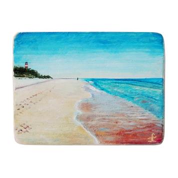 1 Drewniany Obrazek Pocztówka - Plaża