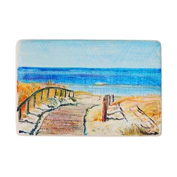 68 Drewniany Obrazek Pocztówka - Wejście na Plażę