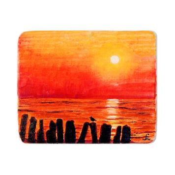76 Drewniany Obrazek Pocztówka - Zachód Słońca