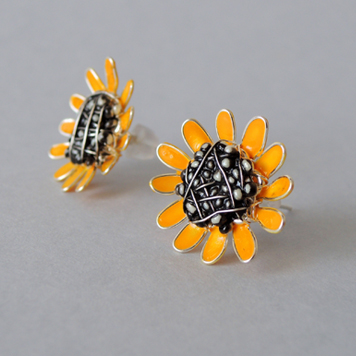Stud Earrings Sunflowers