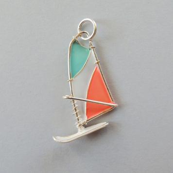 Zawieszka Windsurfing Błękit Morela