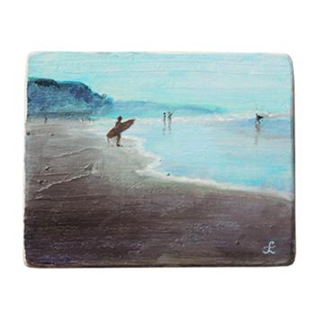 40 Drewniany Obrazek Pocztówka - Surfing