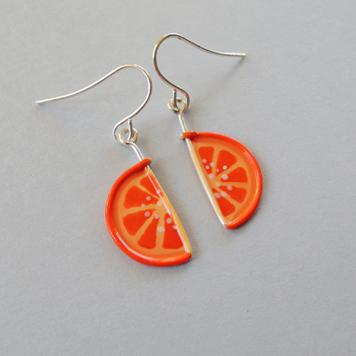 Kolczyki Mini Pomarańczki