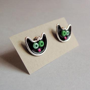 Kolczyki Sztyfty Mini Kotki