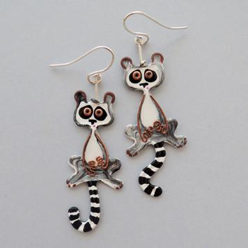 Kolczyki Lemury