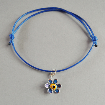 Bracelet with Little Forget-Me-Not Flower