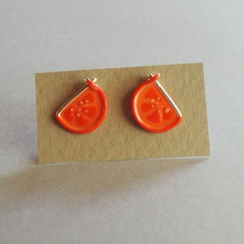 Kolczyki Sztyfty Pomarańczki