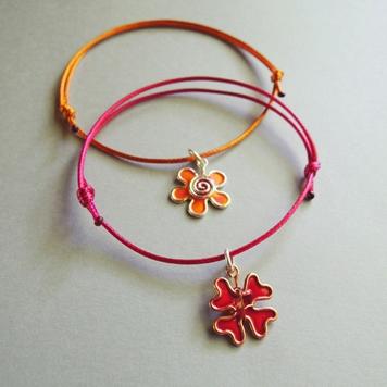 Bransoletki z Kwiatkiem lub Koniczynką Malinową