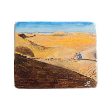 40 Drewniany Obrazek Pocztówka - Wydmy w Maspalomas